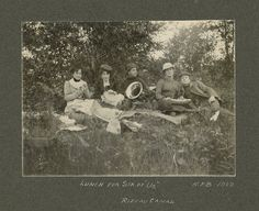 "Beall, ""Lunch for Six of Us"" Picnic on the Rideau Canal, , silver gelatin print, Bytown Museum Gelatin, Capital City, Picnic, Museum, Lunch, Silver, Painting, Art, Art Background"