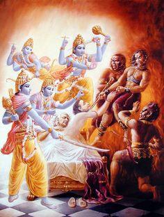 The Visnudutas save the sinful Ajamila