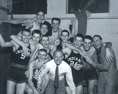 """1954 Milan Indians (the movie """"Hoosiers"""" was based on this team) ~ defeated the mighty Muncie Central Bearcats for the state championship in historic Hinkle Fieldhouse on the campus of Butler University!"""