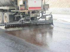 Can be three overlapping spray asphalt Sprinkle cloth car