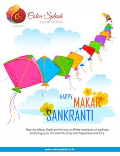 May The Sun Radiate Peace, Prosperity And Happiness In Your Life On Makar Sankranti And Alway Happy Makar Sankranti  www.colorsplash.co.in/  #Celebration2019 #Makarsakranti #Indianfestivals #colorsplash