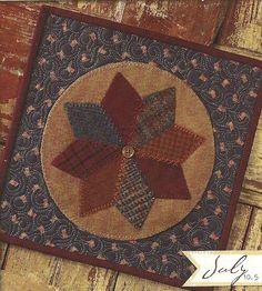 Primitive Folk Art Wool Applique Pattern.  Designer:  Buttermilk Basin