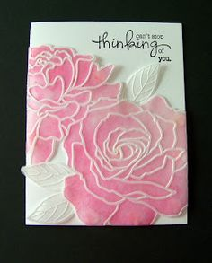 Ann Greenspan's Crafts: Vellum embossing and inking Card Making Techniques, Embossing Techniques, Acetate Cards, Parchment Cards, Scrapbook Cards, Scrapbooking, Embossed Cards, Stamping Up Cards, Flower Cards