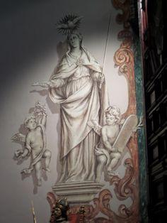 Hospital de Los Venerables #hospitaldelosvenerables #church #art #mural #classical #greek #baroque #cherub #angel #sevilla