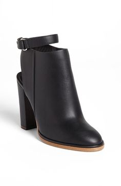 Vince booties with cutout heel and ankle strap // Need these shoes!