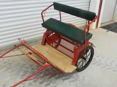 pony cart. Used once - straight in to the electric fence!