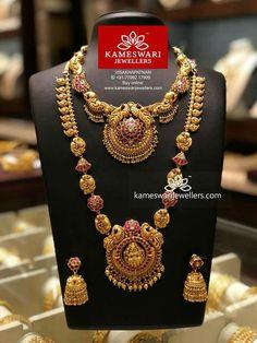 Gold Temple Jewellery, Gold Wedding Jewelry, Gold Jewellery Design, Gold Jewelry, Bridal Jewellery, Antique Jewelry, Trendy Jewelry, Fashion Jewelry, Women's Fashion