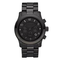 Michael Kors Men's Blacked Out Chronograph Watch