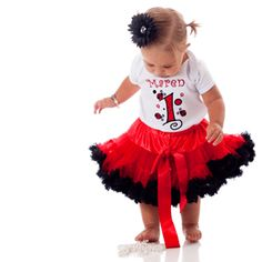 I think a ladybug tutu is in order for this birthday.  Too fun.