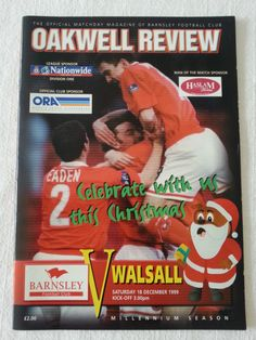 Barnsley v Walsall Football Programme 18/12/1999 Listing in the Division 1 Fixtures,1992-2004,League Fixtures,English Leagues,Football (Soccer),Sports Programmes,Sport Memorabilia & Cards Category on eBid United Kingdom