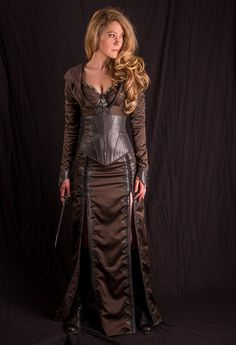 Legend of the Seeker Confessor Kahlan's corset / skirt / jacket custom made replica season 2 dark costume 3 pieces