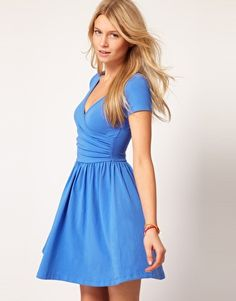 ASOS skater dress in blue