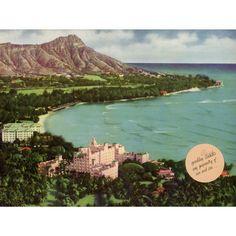 Diamond Head Royal Hawaiian And Moana Wood Sign Moana Poster, Wild West Cowboys, Framed Artwork, Wall Art, Pink Palace, Travel Wall, Sale Poster, Oahu Hawaii, Wall Signs