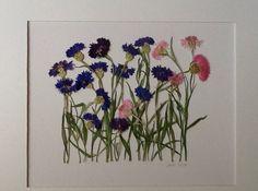"""Pressed flower art -""""Dancing in the Meadow"""" by Jacki Harrington"""