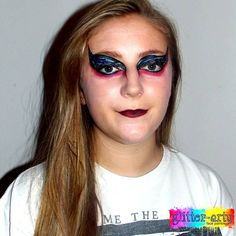 Swan Lake Fantasy Face Art / Arty Make-up for adults by Glitter-Arty Face Painting, Bedford, Bedfordshire