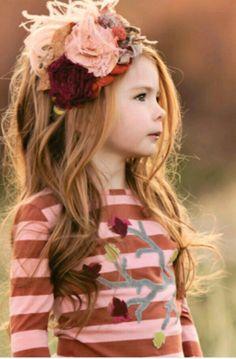 Beautiful Persnickety Flower Field Headband Red//Orange//White Stripe Small!