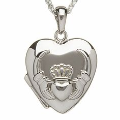 Claddagh Silver Locket - keeping memories forever!