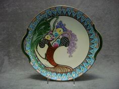 Art deco Limoges porcelain hand painted plate