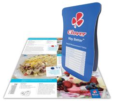 Clover creams its competitors with PocketMedia® Z Cards, Snack Recipes, Snacks, Qr Codes, Bespoke, Panna Cotta, Chips, Coding, Food