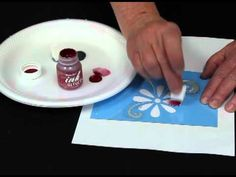 DecoArt® Ink Effects™ | Video Tutorial: Draw or trace design on piece of paper, let dry, then iron on {works multiple of times}... GREAT!
