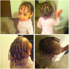 Braids with beads! Babies/kids hairstyle