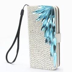 Wing Mint Luxury Bling Cute Lovely Fashion Diamonds Leather Deluxe Crystal Wallet Flip Lanyard Bag Case Cover For Motorola Verizon Droid MAXX / ULTRA XT1080, http://www.amazon.com/dp/B00OD0LMUU/ref=cm_sw_r_pi_awdm_pzyxub128Y7JF