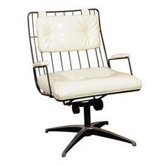 Vintage Metal Frame Swivel Chair  Industrial, MidCentury  Modern, Metal, Swivel Chair by Kendall Wilkinson