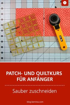 Patch and Quilting Course for Beginners -You can find Quilting and more on our website.Patch and Quilting Course for Beginners - Diy Craft Projects, Diy And Crafts, Sewing Projects, Hobbies And Crafts, Quilt Tutorials, Sewing Tutorials, Patchwork Quilting, Quilts, Techniques Couture