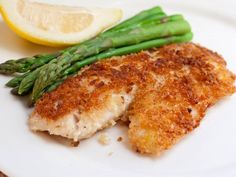 Deliciously flakey grouper with a crispy, toasty pecan crust. A quick pan fry before oven-baking is the secret to these fantastic fillets.