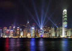 light show, hong kong