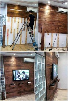diy wood pallet wall panelling