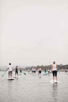 One Big Happy (floating) Tribe doing Stand Up Paddle | Sambazon