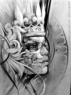 b&g awesome Tattoo Sketches, Tattoo Drawings, Art Sketches, Art Drawings, Chicano Tattoos, Chicano Art, Body Art Tattoos, Inka Tattoo, Aztec Tattoo Designs