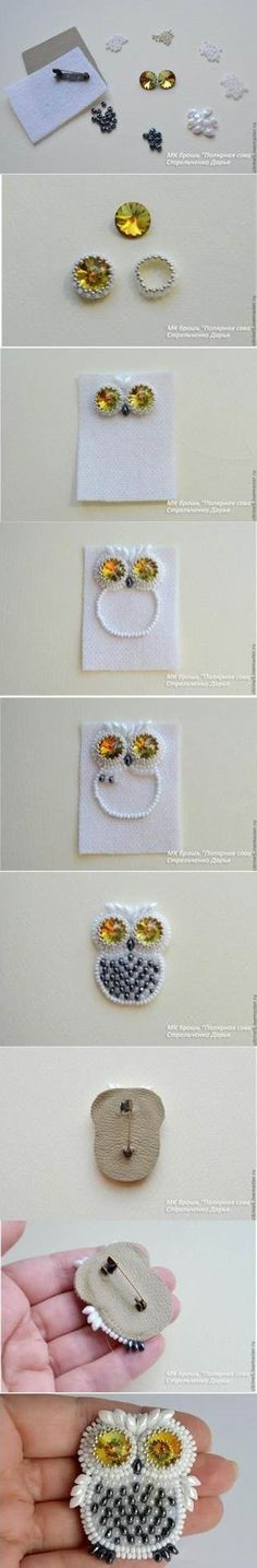 DIY Cute Beads Owl Pin | iCreativeIdeas.com Like Us on Facebook ==> https://www.facebook.com/icreativeideas
