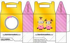 Minions Chicas: Cajas para Imprimir Gratis. | Ideas y material gratis para fiestas y celebraciones Oh My Fiesta!