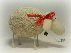Klara Bara Sheep needle felted
