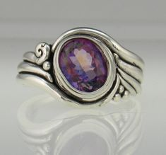 Sterling Silver Pink Topaz Ring Handmade One of a Kind Artisan Jewelry Made in the USA with Free Domestic Shipping! Pink Topaz Ring, Middle Finger Ring, Thumb Rings, Etsy Jewelry, Unique Rings, Handmade Bracelets, Bracelet Making, Artisan Jewelry, Gemstone Rings