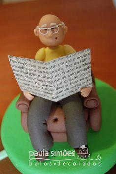 Detalhe da modelagem - Vovô   by The Cake is on the Table