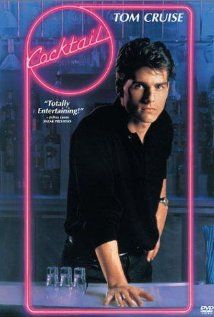 *COCTAIL (1988) Poster:  A talented New York bartender takes a job at a bar in Jamaica + falls in love. Starring:  Tom Cruise, Bryan Brown, Elisabeth Shue.