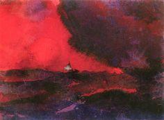 Dark Red Sea~Emil Nolde | Lone Quixote | #EmilNolde #nolde #expressionism #art #painting