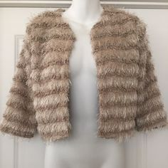 """Piko 1988 Anthropologie soft faux fur jacket Sz s Gorgeous anthropologie piko 1988 faux fur soft cardigan jacket  New without tags !  Size small So soft & luxurious !    Bust 17"""" Length 17.25"""" Sleeve 15.25""""  Smoke free pet free home Anthropologie Jackets & Coats"""