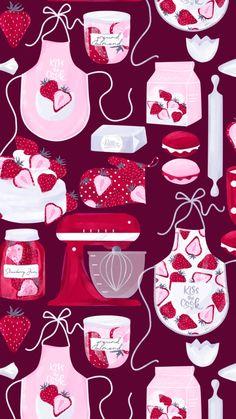 Emoji Wallpaper, Cute Wallpaper Backgrounds, Pretty Wallpapers, Tumblr Wallpaper, Pink Wallpaper, Disney Wallpaper, Flower Wallpaper, Mobile Wallpaper, Baking Wallpaper