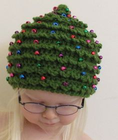 Christmas CROCHET PATTERN HAT Christmas Tree in by TooCuteCrochet