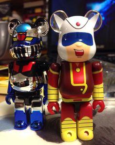Medicom toy, Bear Brick - 베어브릭 100% 마징가 메탈버전, 가부토코지(쇠돌이)