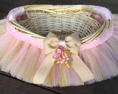 Tutu Pâques panier panier de fille de fleur par MissMadelynsBows