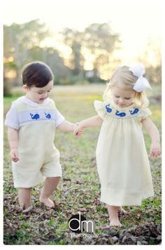 Ohmygosh there's a picture just like this of my and my brother in smocked outfits...