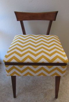 Mid Century Sewing Stool / Vanity Bench - Reupholstered. $100.00, via Etsy. I think I NEED this.