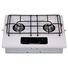 """RV Drop-In Cooktop, 2-Burner, Wedgewood Vision, White by Atwood by Atwood. $164.92. Wedgewood DV Series drop-in cooktops are available with 2 burners or 3 burners. White top to compliment your interior design. Cut-out size: 16 3/8""""W x 11 5/8""""D 2 BURNER - WHITE"""
