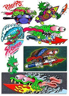 slasher character original art by jim phillips sr. by Mellow Pics, via Flickr