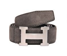 Rich Suede Genuine Leather Casual Belt in Grey Color. The 'H' Buckle, inspired by the latest fashion trend, compliments the Grey Suede Strip.   Buy the Best Casual Leather Belts Online in India at India's Best Leather Online Shopping Destination!